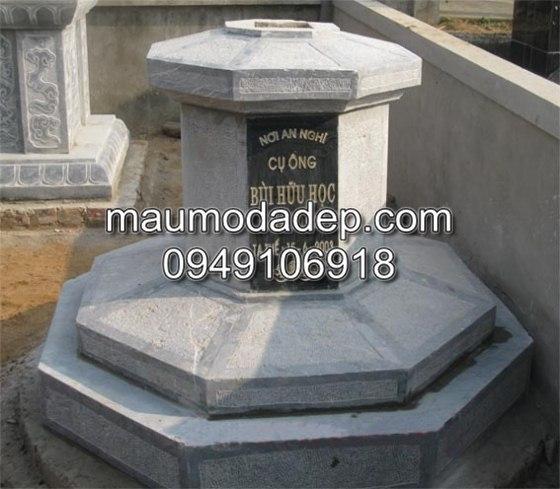Mộ đá bát giác 003, mộ đá hình bát giác, mộ đá, mộ đá đẹp