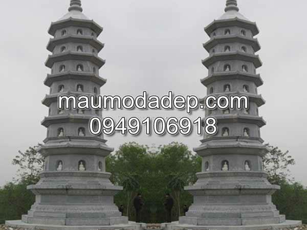 Mẫu mộ đá, mộ đá hình tháp, mộ đá
