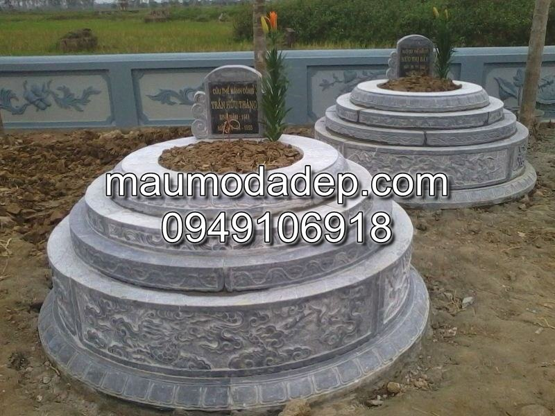 Các mẫu mộ đá hình tròn đẹp