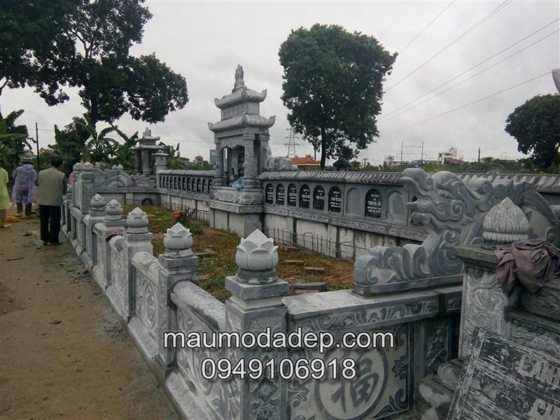 Bản vẽ thiết kế mẫu lăng mộ xây đẹp