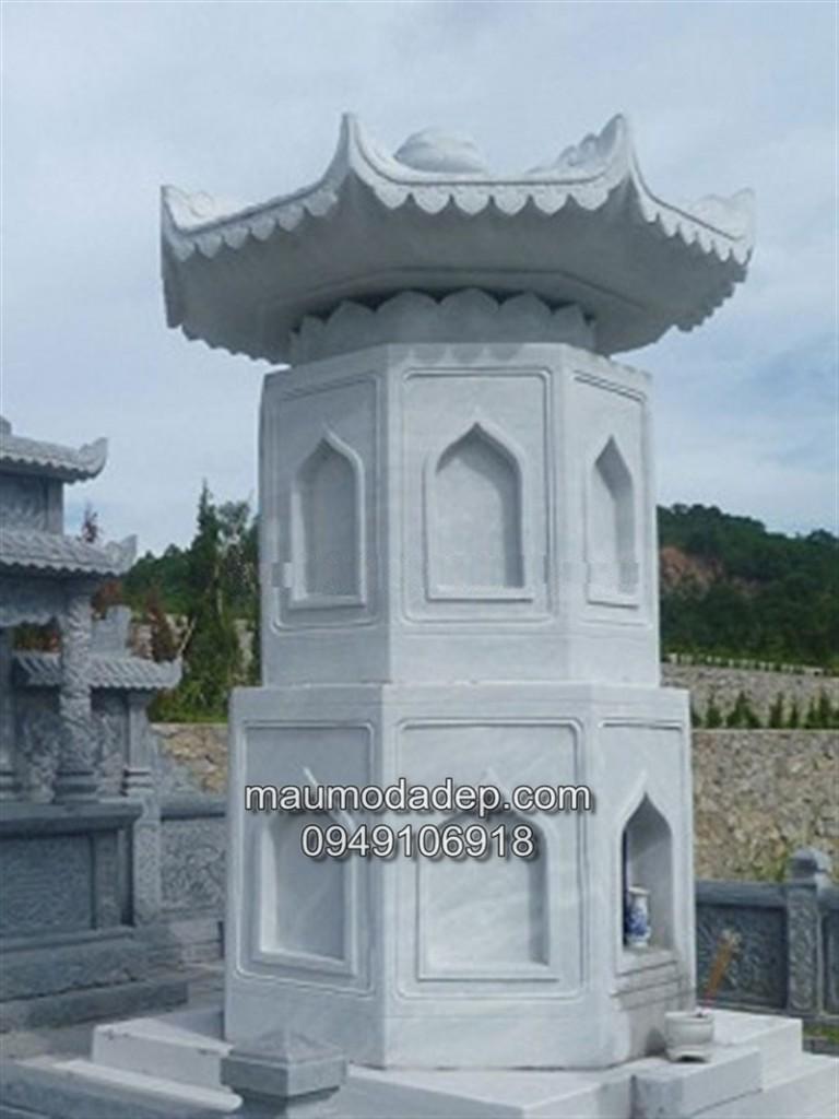 mộ đá tháp, xây mộ đá tháp