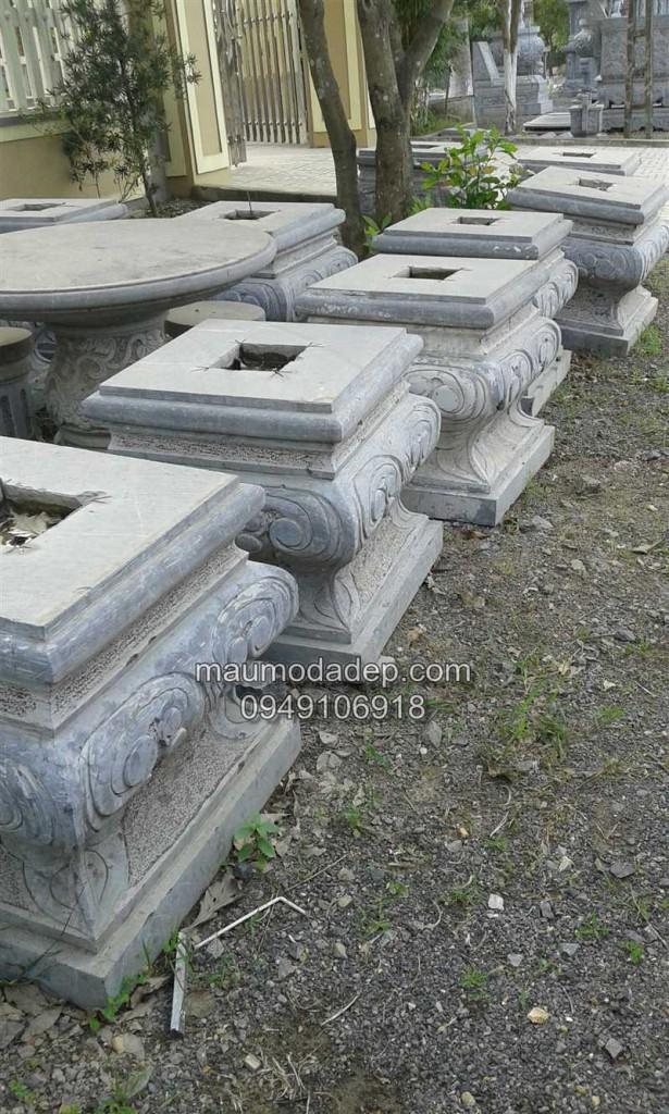 Địa chỉ bán đá kê chân cột chân cột đá