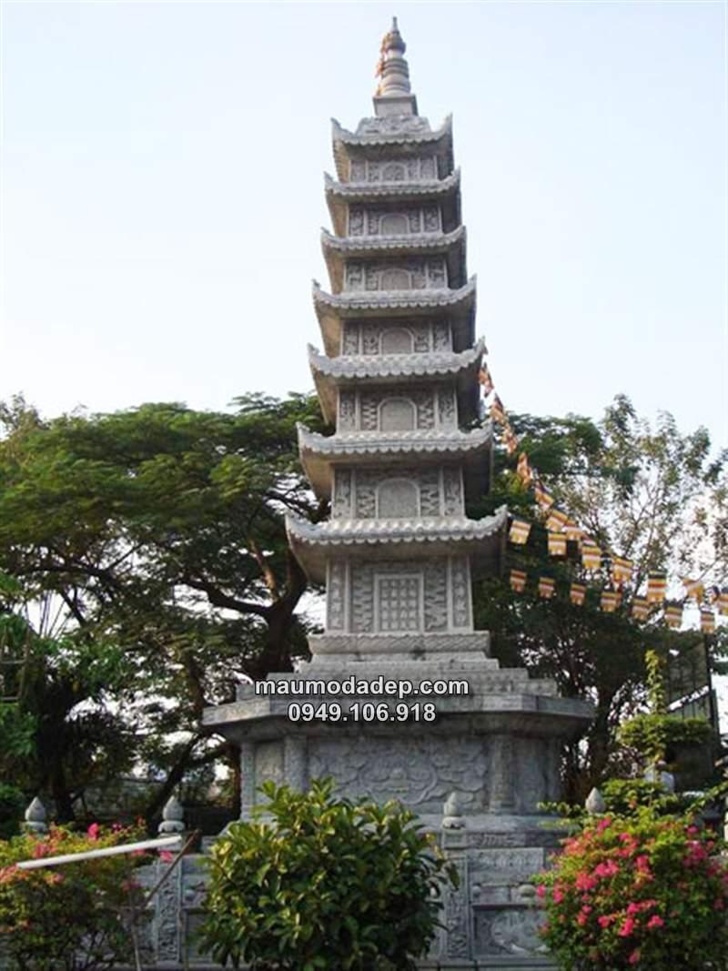 Mẫu lăng mộ đá tháp đẹp Ninh Bình