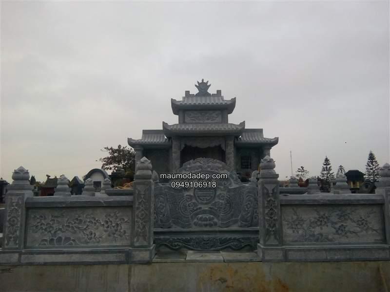 Mẫu lăng mộ đẹp xây bằng đá xanh Ninh Bình