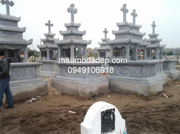 Mẫu mộ đá công giáo đẹp 001