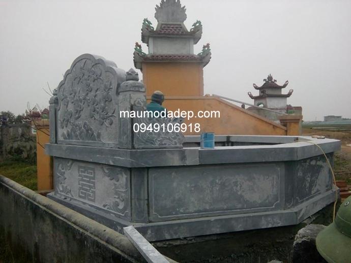 Mẫu mộ đá bát giác đẹp 002Mẫu mộ đá bát giác đẹp 002