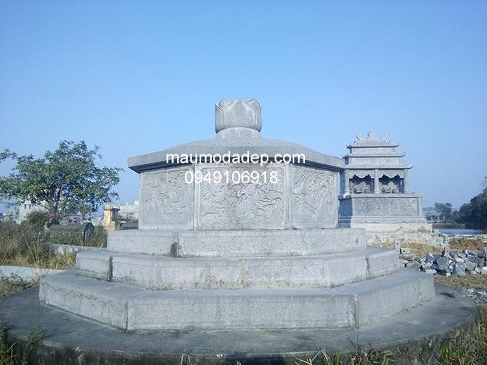 Mẫu mộ đá bát giác đẹp 003