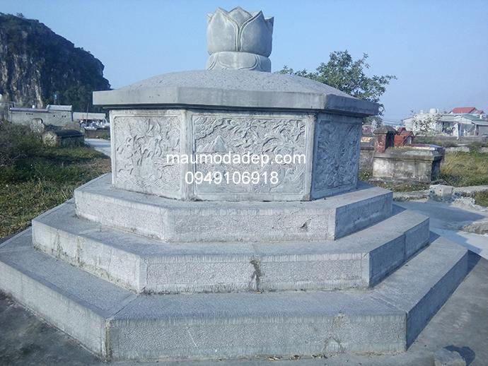 Mẫu mộ đá bát giác đẹp 004