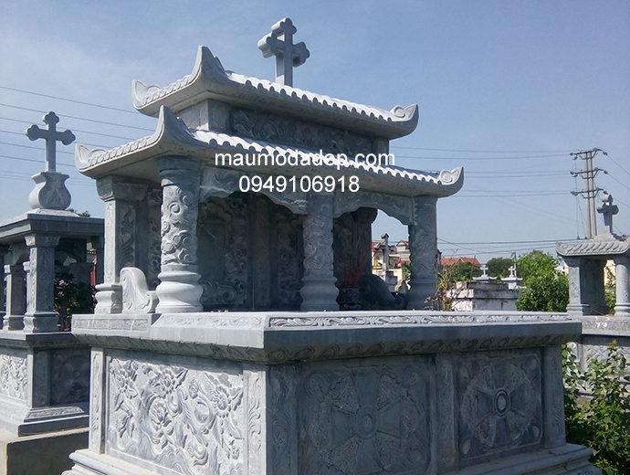 Mẫu mộ đá công giáo đẹp 005