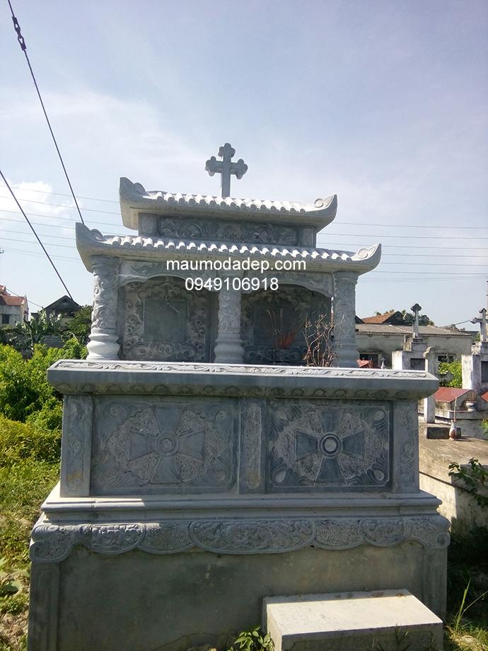 Mẫu mộ đá công giáo đẹp 006