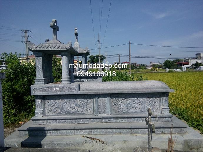 Mẫu mộ đá công giáo đẹp 008