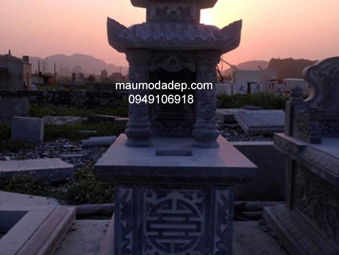 Mẫu mộ đá ba đao đẹp 003