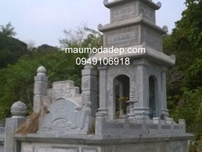 Mẫu mộ đá tháp đẹp 007