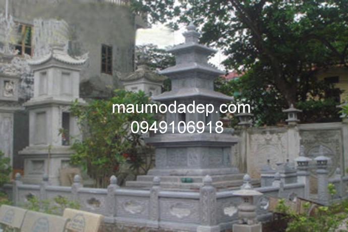 Mẫu mộ đá tháp đẹp 008