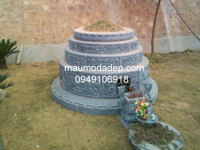 Mẫu mộ đá tròn đẹp 008