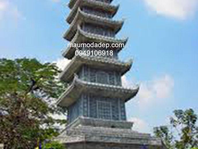 Mẫu mộ đá tháp đẹp 005