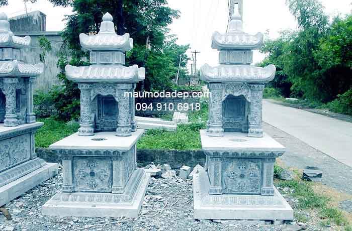 Mẫu mộ đá hai đao đẹp 008