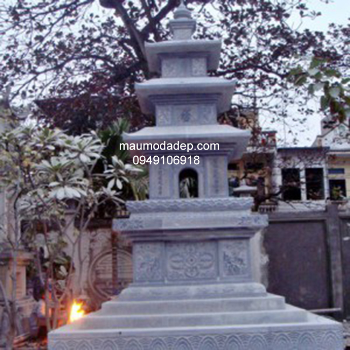 Mẫu mộ đá tháp đẹp 006
