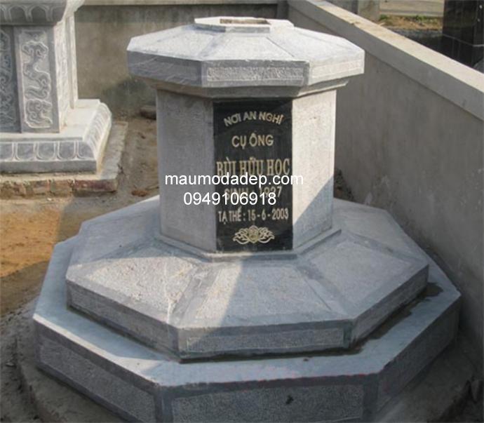 Mẫu mộ đá bát giác đẹp 005