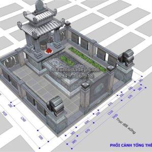 kích thước xây mộ,kích thước xây mộ chuẩn,kích thước lỗ ban xây mộ,chọn hướng đặt mộ theo tuổi,giá mộ đá ninh bình