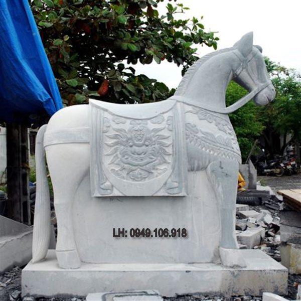ngựa đá phong thủy,ngựa bằng đá,ngựa đá