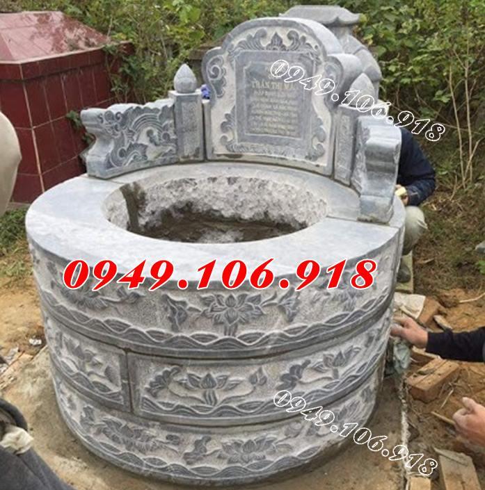 Mẫu mộ đá tròn phong thủy đẹp
