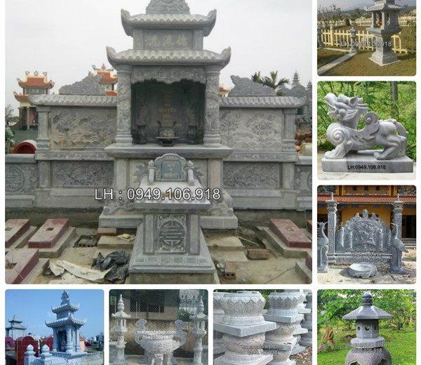 Bán mộ đá xanh khối