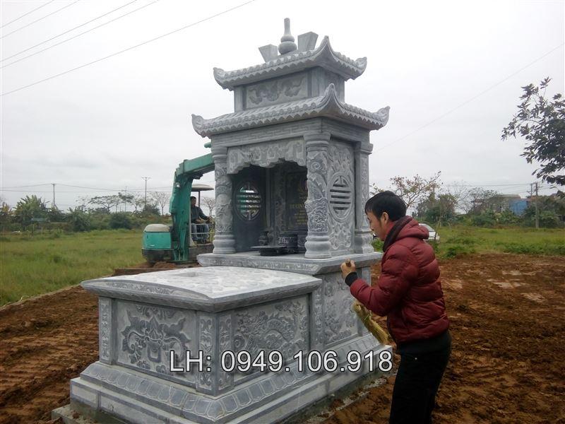 mộ đá hai đao 011,mộ đá hai mái,mộ hai mái
