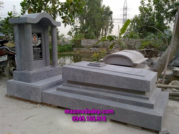 Mẫu mộ đá xanh đẹp