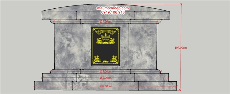 bản vẽ mộ bát giác,ban ve mo bat giac,mo bat giac