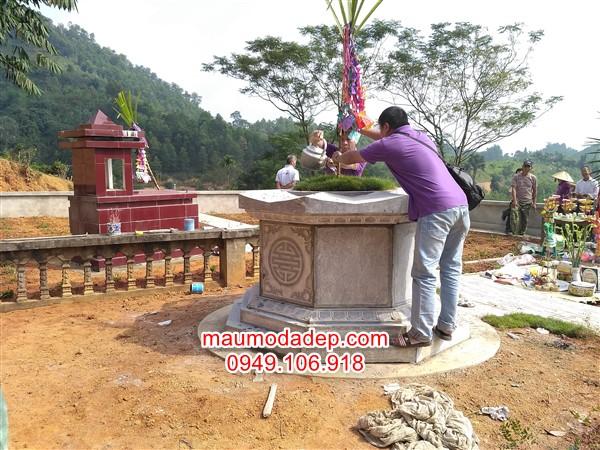 Lắp mộ đá tại Phú Lương-Thái Nguyên