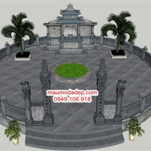 Bản vẽ khu lăng mộ đá tròn,bản vẽ lăng mộ đá
