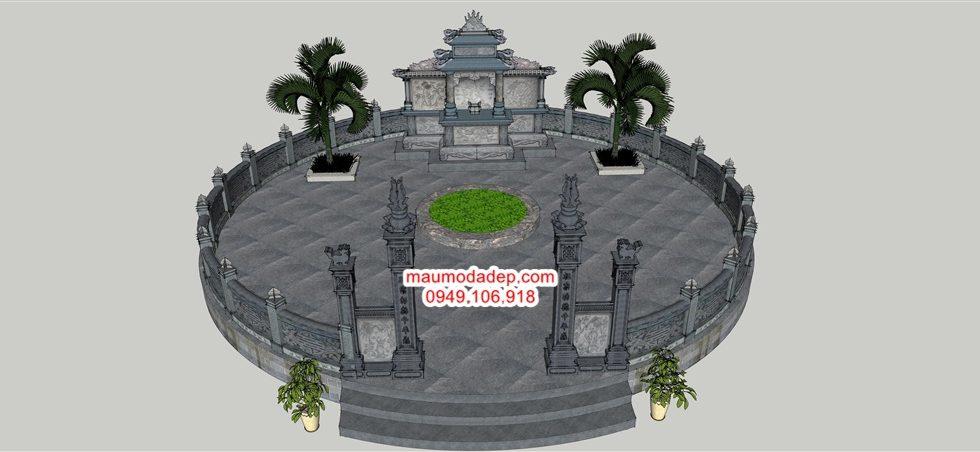 Bản vẽ chi tiết khu lăng mộ tròn