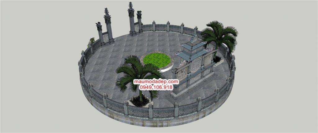 Bản vẽ lăng mộ tròn,bản vẽ chi tiết khu lăng mộ tròn