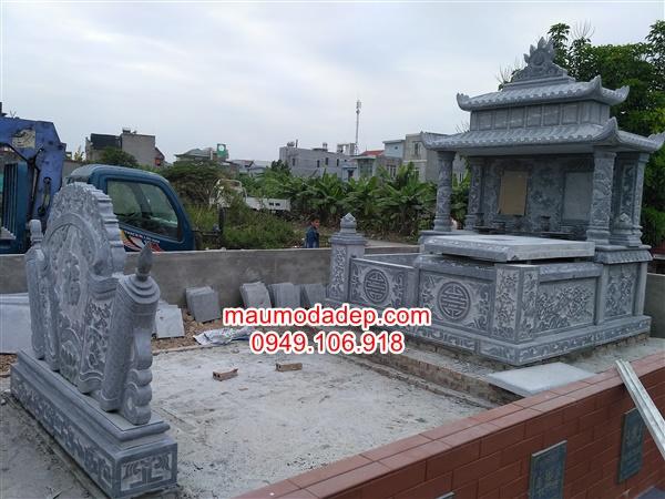 Xây dựng mộ đá đôi ở An Dương-Hải Phòng
