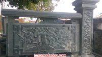 Mẫu lan can đá bao quanh khu lăng mộ