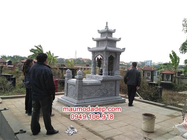 Xây mộ đá đẹp ở Gia Lâm-Hà Nội