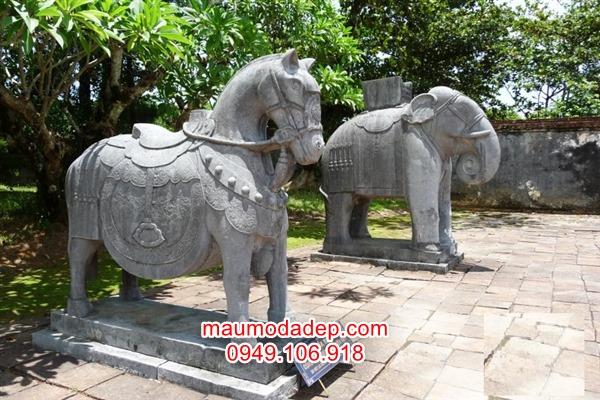 ngựa đá phong thủy,ngựa đá,tượng ngựa đá