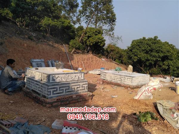Xây dựng mộ đá ở Lục Nam-Bắc Giang,cơ sở làm mộ đá ở bắc giang