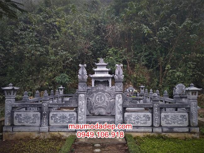 Mẫu cổng khu mộ gia đình,cổng đá