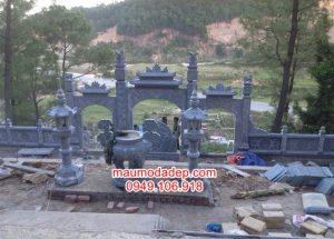 Mẫu cổng tam quan khu lăng mộ