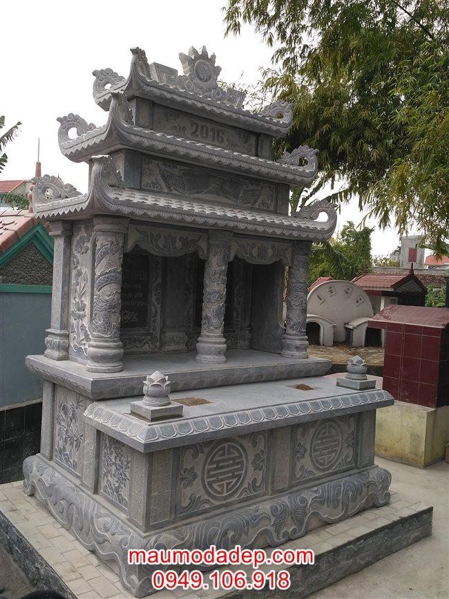 Mẫu mộ đẹp-Mẫu mộ đôi bằng đá-Mộ bằng đá