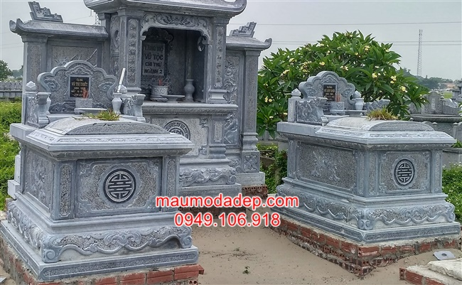 Mộ đá hậu bành-Mộ đá đẹp-Mẫu mộ đơn giản