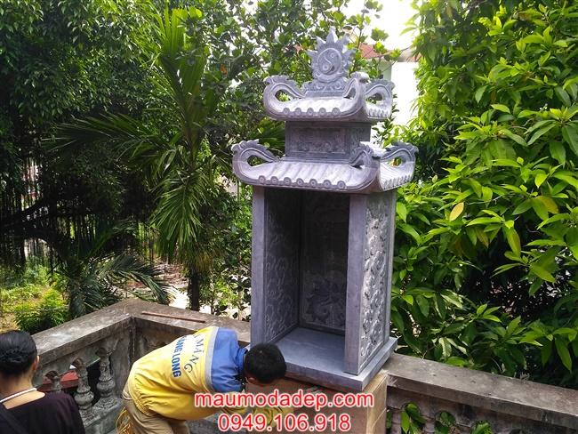 Cây hương đá - Lắp cây hương đá tại chùa Thanh Am