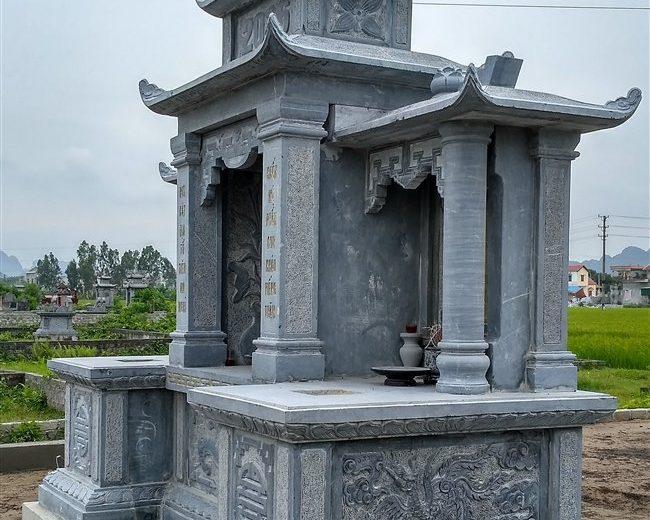 Mẫu lăng mộ đẹp-Mẫu long đình bằng đá-Lăng thờ đá