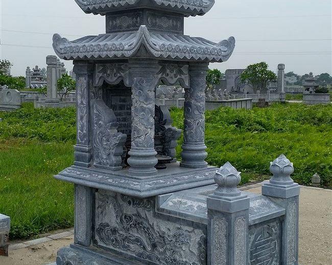 Mộ ba mái-Mẫu mộ đẹp ba mái đơn giản