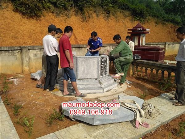 Lắp đặt mộ tại Phú Thọ - Mộ bát giác