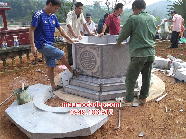 Lắp đặt mộ tại Phú Thọ – Mộ bát giác