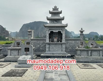 Mẫu lăng mộ đá đẹp tại Thái Bình