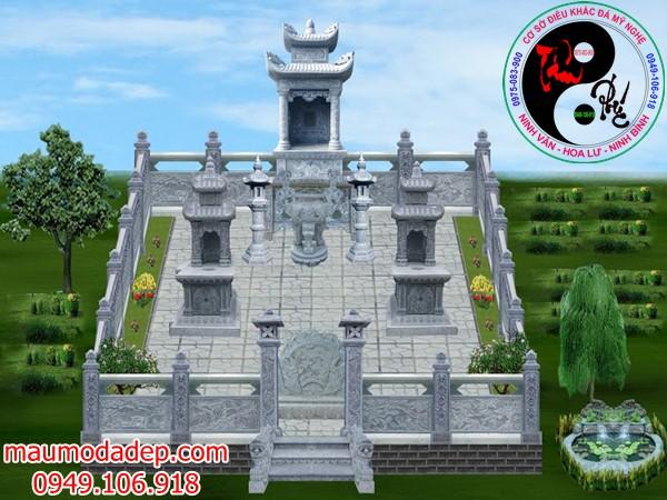 Bản vẽ thiết kế lăng mộ đá 08